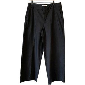 Everlane Wide Leg Crop Black Pants High Rise 12